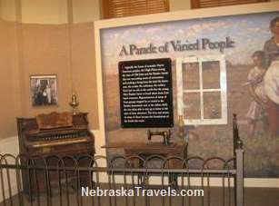 Mari Sandoz High Plains Heritage Center display - on Chadron State College Campus