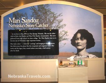 Mari Sandoz High Plains Heritage Center entrance picture display