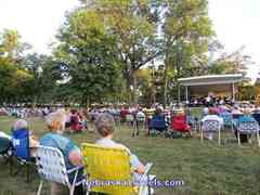 Lincoln Municipal Band Performance in Antelope Park Bandshell in August - Lincoln, Nebraska