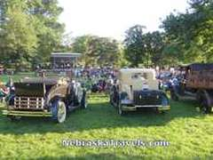 Lincoln Municipal Band + Cornhusker Model A Car Club in Antelope Park in July - Lincoln, Nebraska