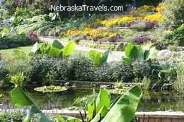 Lincoln Sunken Gardens with pond - Lincoln, Nebraska