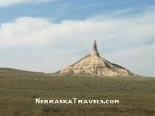 Chimney Rock near Scottsbluff - Popular Nebraska Travels Attraction