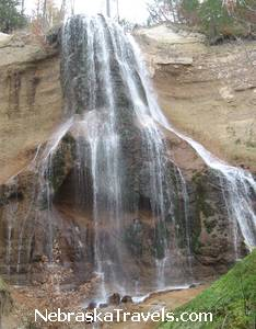 Smith Falls on Niobrara River near Valentine, Nebraska - Nebraska's Tallest Waterfall