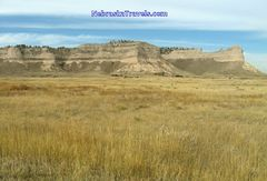 Approaching Scottsbluff National Monument Site from east on Hwy 92