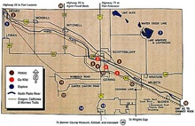 Scottsbluff Nebraska Map with area Attractions numbered