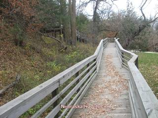 Boardwalk Walking Path up to Smith Falls tallest waterfall in Nebraska viewing area