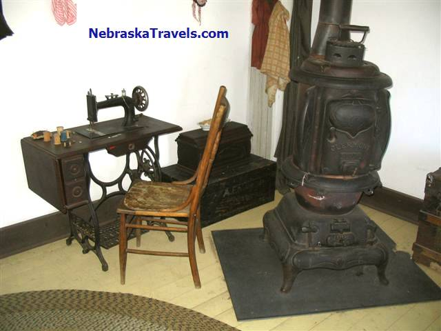 Their were many displays of Antiques in the setting they would have been used at Fort Hartsuff State Historical Park Antiques on edge of Nebrasks Sandhills near Burwell