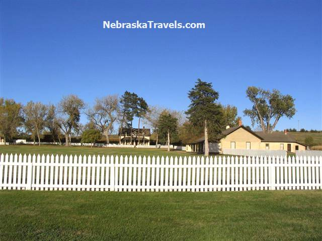Fort Hartsuff State Historical Park Buildings on edge of Nebrasks Sandhills near Burwell