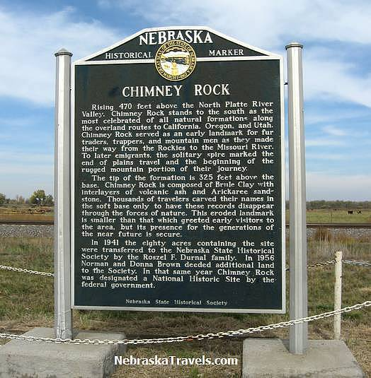 Chimney Rock Historical Marker - east of Scottsbluff on Hwy 92